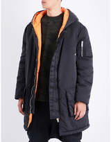 Unravel Hooded shell parka coat