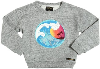 Finger In The Nose Surf Embroidered Cotton Sweatshirt