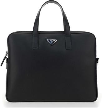 Prada Zip-around Logo Briefcase