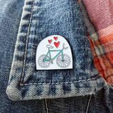 Angela Chick Bicycle Lover Enamel Pin Badge