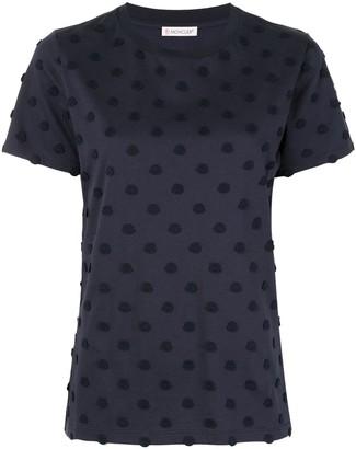 Moncler polka dot-effect patch T-shirt