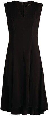 St. John Dipped Hem Crepe Dress