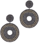 Kenneth Jay Lane Blue Beaded Earrings