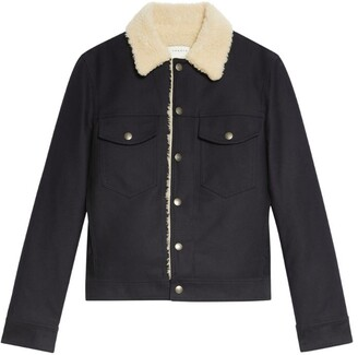 Sandro Paris Fleece-Lined Denim Jacket