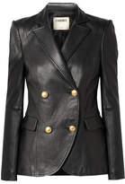L'Agence Patton Leather Blazer - Black