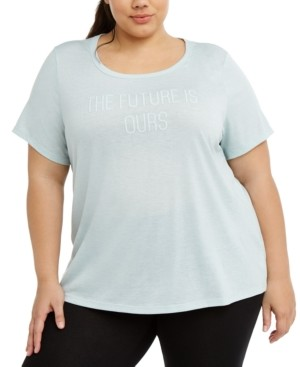 Ideology Plus Size Active Graphic T-Shirt, Created for Macy's
