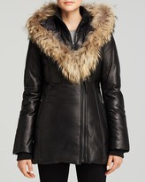Mackage Ingrid Leather Down Coat