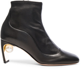Nicholas Kirkwood Leather Maeva Pearl Booties