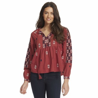 Ella Moss Women's Marths Ballooned Sleeve Peasant Top