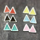 MeMeMe me me me Triangle Stud Earrings