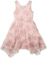 Thumbnail for your product : Trixxi Mesh Sparkle Handkerchief Hem Dress