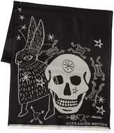 Alexander McQueen Wool Scarf W/ Skull