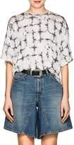 MM6 MAISON MARGIELA Women's Grid-Pattern Floral Jersey T-Shirt