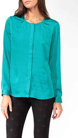 Forever 21 Satin Button Up