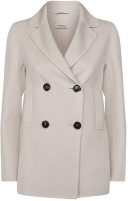 Max Mara Wool-Angora Double-Breasted Jacket