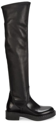 Prada Stretch Leather Tall Boots