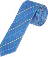 Oxford Silk Tie Windowcheck Reg Blue X