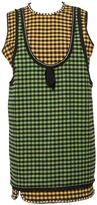 N°21 N.21 Green Check Pattern Dress