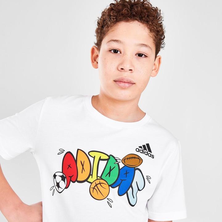 adidas Boys' Balloon Script T-Shirt - ShopStyle