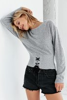 Silence & Noise Silence + Noise Corset Pullover Sweater