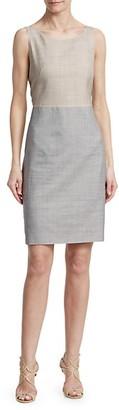 Akris Reversible Wool Silk Sheath Dress