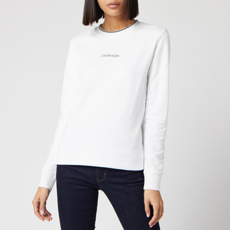 Calvin Klein Women's Regular Small Logo Sweatshirt
