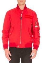 Givenchy Nylon Bomber Jacket, Red