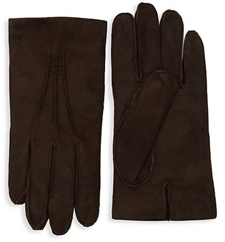 Saks Fifth Avenue Classic Suede Gloves
