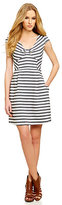 Jessica Simpson Striped Fit-and-Flare Dress