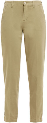 7 For All Mankind Chino Cropped Cotton-blend Tapered Pants
