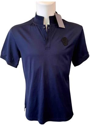 Alexander McQueen Blue Cotton Polo shirts