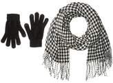 Steve Madden Houndstooth Magic Gloves Set Scarves