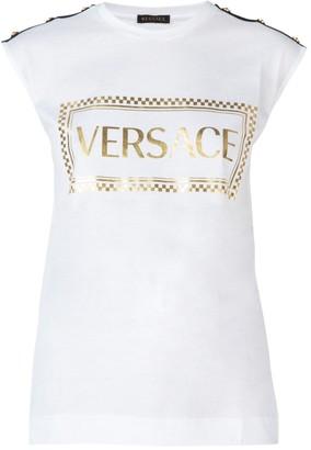 Versace 90S Vintage Logo Muscle T-Shirt