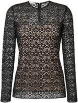 Stella McCartney lace overlay blouse - women - Cotton/Polyamide/Polyester/Spandex/Elastane - 40