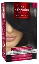 Vidal Sassoon Pro Series Hair Color 1 Deep Black 1 Kit, 1.000-Kit