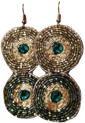 Non Signã© / Unsigned Motifs Ethniques Gold Metal Earrings