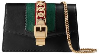 Gucci Sylvie leather super mini bag