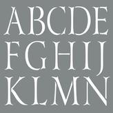 DecoArt Americana Decor 10 in. x 10 in. Classic Alphabet Stencil
