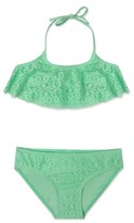 Gossip Girl Girl's Ruffle Two-Piece Swimsuit