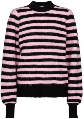 Ganni Striped alpaca hair and wool-blend sweater