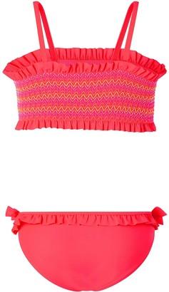 Accessorize Girls Smocked Bikini - Pink