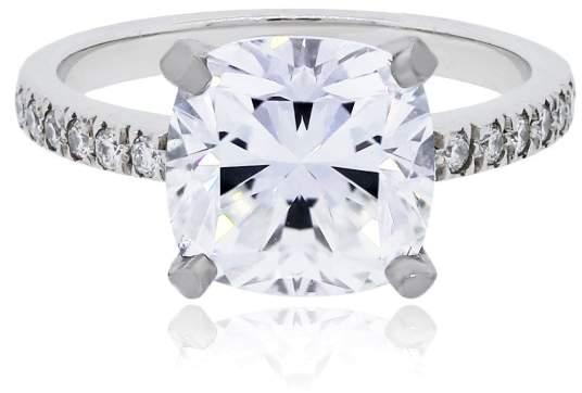 Tiffany & Co. Platinum Novo Square Cushion Diamond Engagement Ring