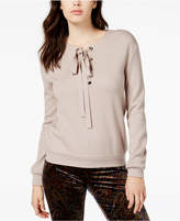 J.o.a. Lace-Up Sweatshirt