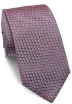 HUGO BOSS Geometric Printed Silk Tie