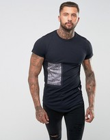 Religion T-Shirt With Bonded Animal Print Patch