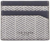 Ted Baker Heckle Herringbone Leather Card Holder