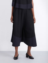 Issey Miyake Berry cotton-blend trousers