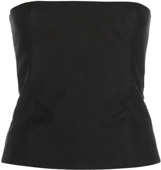 KHAITE Percy strapless top
