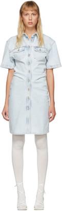 Off-White Blue Denim Dress