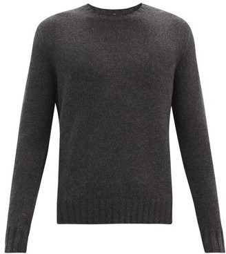 Allude Crew-neck Cashmere Sweater - Dark Grey